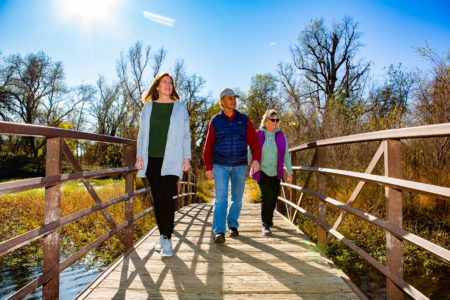Group walking at Anderson River Park