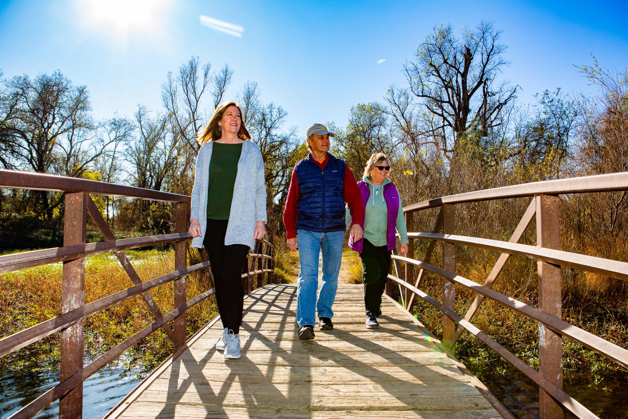 Group walking at Anderson River Park